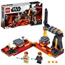 LEGO Star Wars - Duelo en Mustafar, Set de Construcción de la Película Guerra de las Galaxias, con Plataformas Giratorias Deslizante y 2 Minifiguras y Espadas Láser (75269)
