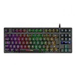 Mars Gaming MKTKL, teclado H-mecánico Negro RGB 8 efectos, antighosting, español