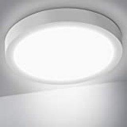 OUSFOT Lámpara de Techo, Plafón LED Techo 24W 6000K 2200LM Moderna Luz LED para Cocina Sala de Estar Dormitorio Pasillo Comedor