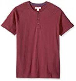 Marca Amazon - Goodthreads - Camiseta de manga corta estilo henley para hombre