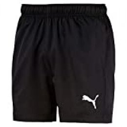 PUMA Active Woven Short 5` Pants, Hombre, Puma Black, XXL