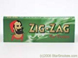 Zig Zag - Papel para liar cigarrillos, verde, 20 paquetes
