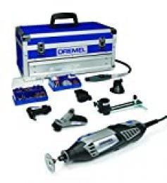 Dremel Platinum Edition 4000 - Multiherramienta, 175 W, kit con 6 complementos, 128 accesorios, velocidad 5.000 - 35.000 rpm para tallar, fresar, amolar, limpiar, pulir, cortar, lijar y grabar