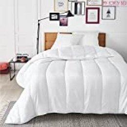 My Lovely Bed - Edredón Nórdico 4 Estaciones - 220x240 cm - Para cama de 150/160 - 3 en 1 - Cálido en invierno/Fresco en verano - Relleno Fibra Hueca : Mullida y Respirable - Funda 100% Microfibra - Para cama de 150/160