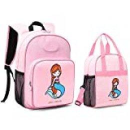 Mommore Mochila para niños y bolsa de almuerzo térmica para niños Kit de 2 bolsas Bolsa para niños Bolsa isotérmica infantil Materna