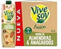 Vivesoy Fusión Almendra y Anacardo (pack de 6 x 1L)