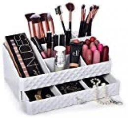 Dawoo Caja de maquillaje blanco caja de cosméticos multifuncionales caja de cosméticos joyería caja de cosméticos caja de cosméticos