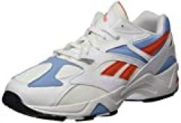 Reebok Aztrek 96, Zapatillas de Deporte Unisex-Adulto, White/Vivid Orange/Fluid Blue, 39 EU