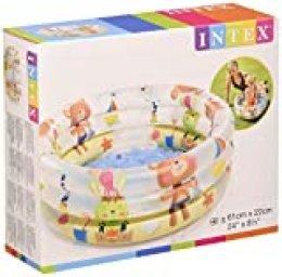 Intex 57106NP - Piscina hinchable colores con base hinchable 61 x 22 cm, 33 litros, 1 unidad [modelos surtidos]