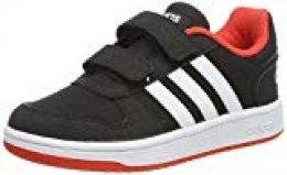 Adidas Hoops 2.0 CMF C, Zapatos de Baloncesto Unisex Niños, Negro (Core Black/FTWR White/Hi/Res Red S18 Core Black/FTWR White/Hi/Res Red S18), 28.5 EU