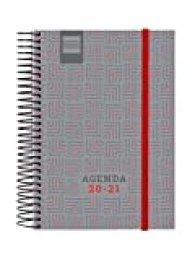 Finocam - Agenda Curso 2020-2021 E8, 120 x 171 1 Día Página Espir Nobel, Rojo, Español