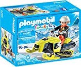 Playmobil-9285 Moto de Nieve, Negro, Naranja, Color Blanco, Amarillo, única (9285)