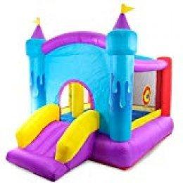 Riscko Castillo Hinchable Infantil, Castillo Inflable, Morado y Azul de 289 x 213 x 210 cm