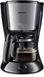 Philips HD7435 Cafetera Goteo, Color Metal, 700 W, 6 Cups, plástico, Negro y Gris