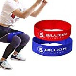 5BILLION Bandas Antideslizantes de Resistencia Ejercicios – Ejercicios Glúteos de Piernas y Caderas - Banda Elástica Circle para Activación de Gluteos, Hombres y Mujeres (Rojo + Azul)