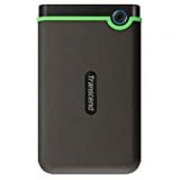 Transcend StoreJet 25M3S - Disco duro externo de 2 TB (USB 3.1 Gen 1) color Gris Hierro