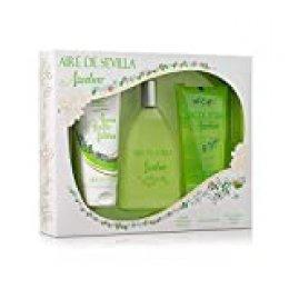 Aire de Sevilla Set de Belleza Edición Azahar - Crema Hidratante Corporal, Eau de Toilette, Gel Exfoliante