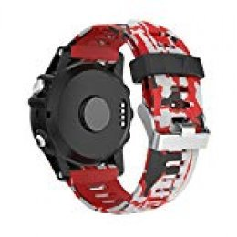 Garmin Fenix 3 correa Accesorios,YaYuu impresión Reemplazo de Silicona Suave Deportiva con Herramientas para Garmin Fenix 3 / Fenix 3 HR/Fenix 5X Smart Watch