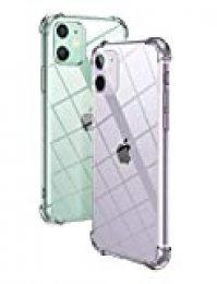 "UGREEN Funda Transparente para iPhone 11 (2019), Funda Silicona TPU Suave Compatible con iPhone 11 6,1"", Anti-Arañazos, Compatible con Carga Inalámbrica, Transparente"