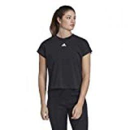 adidas W Mh 3s tee Camiseta de Manga Corta, Mujer, Black/White, XS