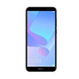 """Huawei Y6 - Pack de carcasa y smartphone de 5.7"""" (RAM de 2 GB, memoria de 16 GB, cámara de 13 MP, Android 8.0) Negro [Exclusivo Amazon]"""