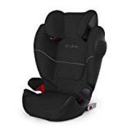 Cybex Silla de coche grupo 2/3, Solution M-Fix SL, Para coches con y sin Isofix, Grupo 2/3 (15-36 kg), Desde los 3 hasta los 12 años, Negro (Pure Black)