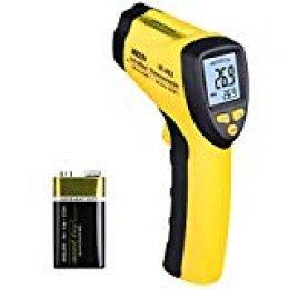 URCERI, Termómetro Infrarrojo Digital -50°C~580°C (-58℉~1076℉), Sonda de temperatura sin contacto, Emisividad Ajustable, Alta Precisión de ±2°C, Pantalla LCD