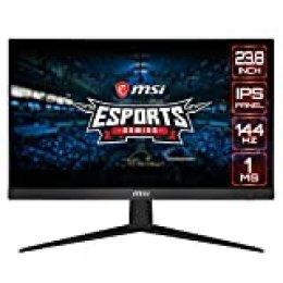 "MSI Optix G241 - Monitor Plano Gaming de 24"" FullHD 144Hz (1920 x 1080 pixeles, 16:9, 144 Hz, 1 ms), Negro"