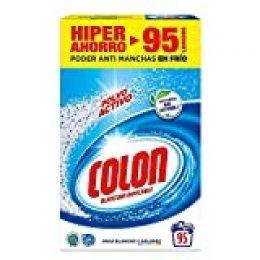 Colon Polvo Activo - Detergente para lavadora, adecuado para ropa blanca y de color, formato polvo - 95 dosis