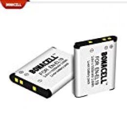 Bonacell - Batería de Repuesto para Nikon EN-EL19 (2 Unidades, 1000 mAh, Compatible con Nikon Coolpix S32, S100, S2600, S2700, S2750, S3100, S3200, S3300, S3500, S4100, S4150)