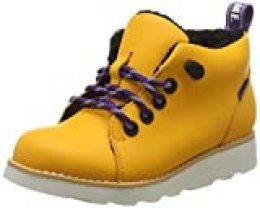 Clarks Crown Tor K, Botas Clasicas para Niños, Amarillo (Yellow Leather Yellow Leather), 33.5 EU