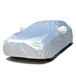 FREESOO Funda para coche FUNDA PROTECTORA CUBIERTA COCHE IMPERMEABLE algodón reflectante gris plateado S-XXL