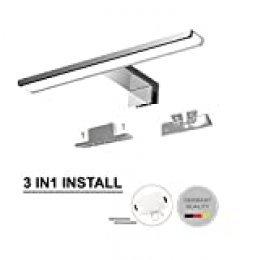 Luz led para espejo 230V| Lámparas de baño | Iluminación para espejo de pared | Iluminación para espejo | Aplique de pared para baño | Aplique de baño de 30cm | IP44 | 7.2W | 470lm