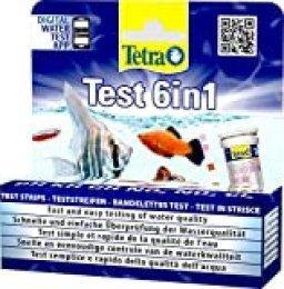 Tetra Test 6in1- Prueba de agua para controlar los seis valores más importantes del agua en un solo paso, permite una rápida y fácil comprobación de la calidad del agua (25 strips)