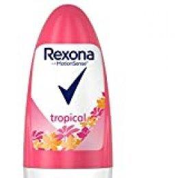 Rexona Tropical Antitranspirante Roll On para mujer, protección 48 horas - 50 ml