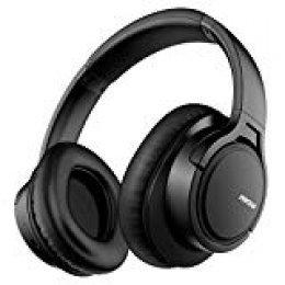Mpow H7 Auriculares Bluetooth Diadema, 18hrs de Reproducir, CVC 6.0, Hi-Fi Sonido, Cascos Bluetooth Inalámbrico, Auriculares Diadema Cerrados con Micrófono, Cascos Diadema para Moviles, TV, PC-Negro