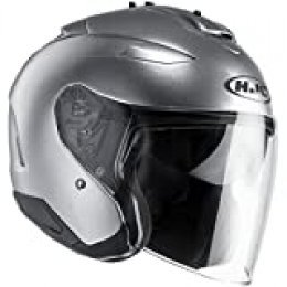 Casco de moto HJC IS-33 II Semi Mat Gris Clair, Gris, XS