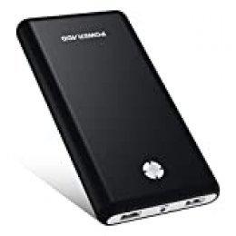 POWERADD [Versión Mejorada] Pilot X7 20000mAh Power Bank Cargador Móvil Portátil Batería Externa con 2 Salidas USB 3.1A para iPhone iPad Samsung Dispositivos Android Tablets y Más, Color-Negro
