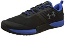 Under Armour UA TriBase Thrive, Zapatillas Deportivas para Interior para Hombre, Negro (Black/Versa Blue/Pitch Gray), 45 EU