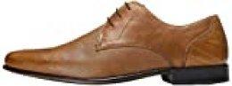 find. Zapato de Cordones con Textura en Piel para Hombre, Marrón (Tan), 45 EU