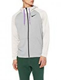 Nike M Nk Dry Hoodie FZ Fleece Hombre, Grey Heather Ale Ivory/Bright Violet/(Black), XL