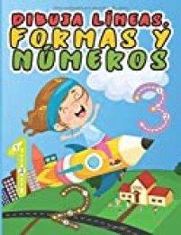 Dibuja líneas, formas y números: Libro de actividades para niños en jardín de infantes
