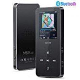 Victure Bluetooth 4.1 Reproductor MP3 16GB Botón Táctil Reproductor Música Portátil Grabación Radio FM Brazalete Deportivo Altavoz Incorporado Auriculares Soporte 64GB TF Card