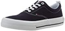 Tommy Hilfiger Classic Low Tommy Jeans Sneaker, Zapatillas para Hombre, Azul (Twilight Navy C87), 44 EU