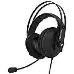 ASUS TUF Gaming H7 Core Gun Metal - AuricularesCompatibles con PC, Mac, PS4, Nintendo Switch, smartphones y Xbox One. con altavoces exclusivos Asus Essence, Gun Metal
