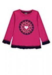 Kanz T-Shirt 1/1 Arm Camiseta, Rosa (Pink Peacock 2253), 92 cm para Niñas