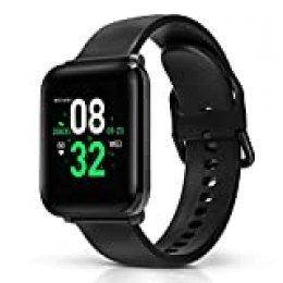 BlitzWolf Smartwatch, Reloj Inteligente IP68 Impermeable, HD Pantalla de 1.3 Pulgadas, Pulsera Actividad, con Pulsómetro, Podómetro, Monitor de Sueño, Reloj Deportivo para Hombre Mujer