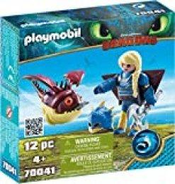 PLAYMOBIL- Astrid con Globoglob Juguete, Multicolor, Dimensions: 14.2 x 14.2 x 4.1 cm(LXWXH) (geobra Brandstätter 70041)