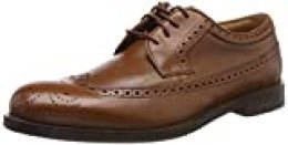 Clarks Coling Limit, Zapatos de Cordones Derby para Hombre, Marrón (British Tan Leather-), 42.5 EU