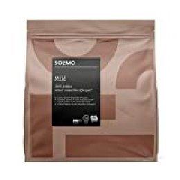 Marca Amazon- Solimo Cápsulas Mild, compatibles con Senseo*- café certificado UTZ, 90 cápsulas (5x18)
